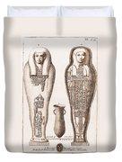 Egyptian Mummy, Illustration Duvet Cover