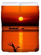 Egyptian Sunrise On Lake Nasser Duvet Cover