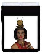 Egyptian Woman Crown Duvet Cover