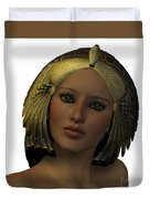 Egyptian Woman Face Duvet Cover