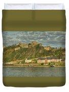 Ehrenbreitstein Fortress On The Rhine Duvet Cover