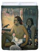 Eiaha Ohipa Or Tahitians In A Room Duvet Cover