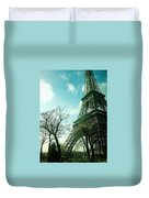 Eifell Tower View From Taxi II. Duvet Cover