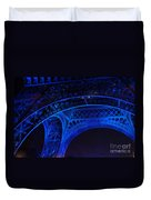 Eiffel Blue Duvet Cover