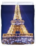 Eiffel Tower At Dusk. Duvet Cover