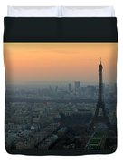 Eiffel Tower At Dusk Duvet Cover