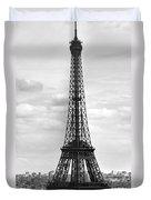 Eiffel Tower Black And White Duvet Cover by Melanie Viola