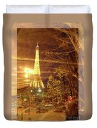 Eiffel Tower By Bus Tour Greeting Card Poster Duvet Cover