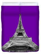 Eiffel Tower Design Duvet Cover