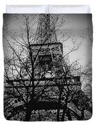 Eiffel Tower During The Winter. Duvet Cover