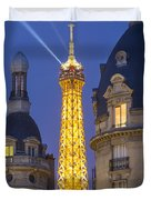 Eiffel Tower From Passy Duvet Cover by Brian Jannsen