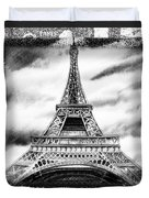 Eiffel Tower In Black And White Design II Duvet Cover