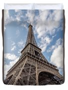 Eiffel Tower In Paris Duvet Cover
