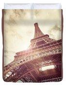 Eiffel Tower In Sunlight Duvet Cover