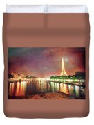 Eiffel Tower Reflections Duvet Cover