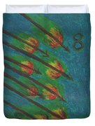 Eight Of Wands Illustrated Duvet Cover