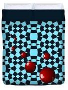 Eight Red Balls Duvet Cover