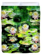 Eight #waterlilies Duvet Cover