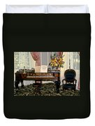 Eighteenth Century Piano And Parlor Duvet Cover
