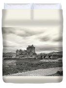 Eilean Donan Castle Bw 1337 Duvet Cover