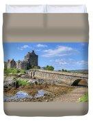 Eilean Donan Castle In Scotland Duvet Cover