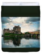 Eilean Donan Castle On A Cloudy Day Duvet Cover