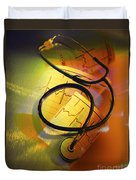 Ekg Stethoscope Composite Duvet Cover