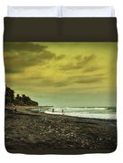El Beach - El Salvador Duvet Cover