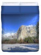 El Capitan Meadow Winter Yosemite National Park II Duvet Cover