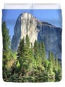 El Capitan Over The Merced River - Yosemite Valley Duvet Cover