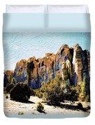 El Morro Cliffs Duvet Cover