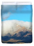 El Paso Franklin Mountains And Low Clouds Duvet Cover