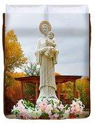 El Santuario De Chimayo Sculpture Garden 5 Duvet Cover