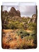 El Torcal Rock Formations Duvet Cover