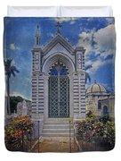 Elaborate Mausoleum  Colon Cemetery Havana Cuba Espada Cemetery Duvet Cover