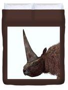 Elasmotherium Head Duvet Cover