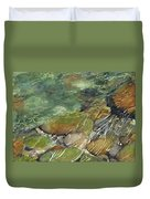 Elbow River Rocks 3 Duvet Cover