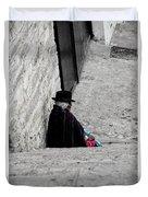 Elderly Beggar In Chordeleg Duvet Cover