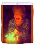 Elderly Joy Duvet Cover