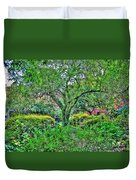 Elderly Man At St. Luke's Garden Duvet Cover