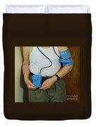 Elderly Man Wearing A Blood Pressure Duvet Cover