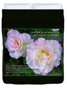Eleanor Roosevelt Roses Duvet Cover