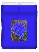 Electric Blue Flower Duvet Cover