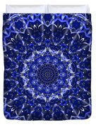 Electric Blue Mandala Duvet Cover