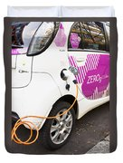 Electric Car Duvet Cover