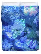 Electric Coral Duvet Cover