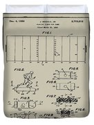 Electric Football Patent 1955 Aged Gray Duvet Cover