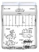 Electric Football Patent 1955 Duvet Cover