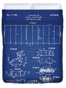 Electric Football Patent 1955 Blueprint Duvet Cover