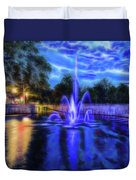 Electric Fountain  Duvet Cover